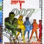 15418762-gabon--circa-2006-stempel-gedrukt-door-gabon-toont-poster-james-bond-circa-2006